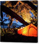 Patagonia Landscape Camping Canvas Print