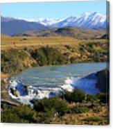 Patagonia Landscape Of Torres Del Paine National Park In Chile Canvas Print