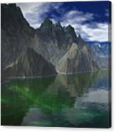 Patagonia Mountain Reflection Canvas Print
