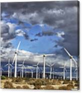 Patch Of Blue Palm Springs Canvas Print