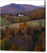 Patch Worked Mountains In Vermont Canvas Print