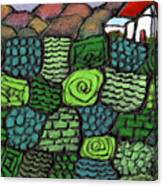 Patches Of Green Canvas Print