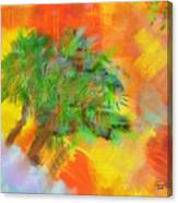 Patchwork Beach Town Canvas Print