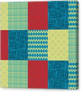 Patchwork Patterns - Muted Primary Canvas Print