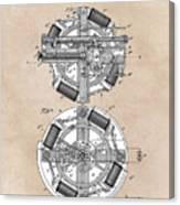 patent art Edison 1888 Phonograph Canvas Print