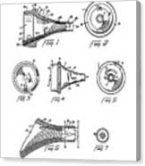 Patent Drawing For The 1962 Illuminating Means For Medical Instruments By W. C. More Etal Canvas Print