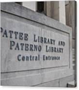 Paterno Library At Penn State  Canvas Print