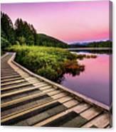 Path By The Lake Canvas Print