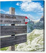 Path Directions Canvas Print