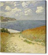 Path In The Wheat At Pourville Canvas Print