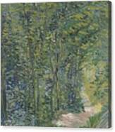 Path In The Woods Paris, May 1887 - July 1887 Vincent Van Gogh 1853  1890 Canvas Print