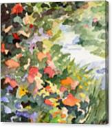 Path Monets Garden Watercolor Paintings Of France Canvas Print