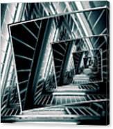 Path Of Winding Rails Canvas Print