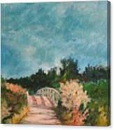 Path Over The Bridge At Robinson Preserve Canvas Print