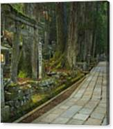 Path Through Koyasan Okunoin Cemetery, Japan Canvas Print