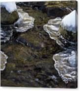 Path Through The Ice Canvas Print