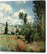Path through the Poppies Canvas Print
