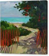 Path To Delray Beach 1 Canvas Print