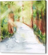 Path To Light Watercolor Canvas Print