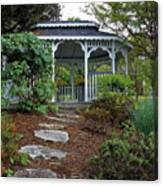 Path To The Gazebo Canvas Print