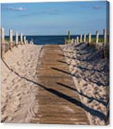 Pathway To Beach Seaside New Jersey Canvas Print