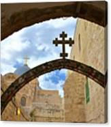 Pathway To The Cross Canvas Print
