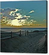 Pathway To The Sunrise Canvas Print