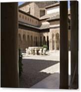 Patio De Los Leones Nasrid Palaces Alhambra Granada Canvas Print