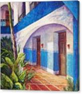 Patio In Merida Canvas Print