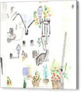 Patio Canvas Print