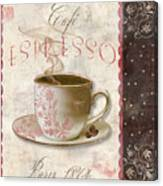 Patisserie Cafe Espresso Canvas Print