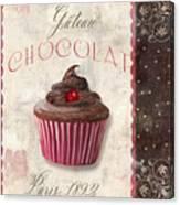 Patisserie Chocolate Cupcake Canvas Print