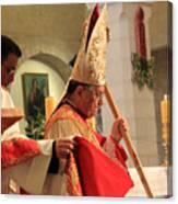 Patriarch Fouad Twal At Christmas Mass Canvas Print