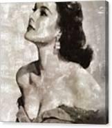 Patricia Medina, Vintage Actress Canvas Print