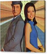 Patrick Macnee And Diana Rigg, The Avengers Canvas Print