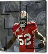 Patrick Willis San Francisco 49ers Blocks Canvas Print