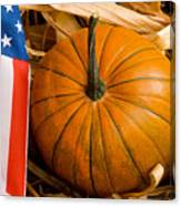 Patriotic American Pumpkin Canvas Print
