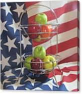 Patriotic Apples Canvas Print