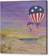 Patriotic Balloons Canvas Print