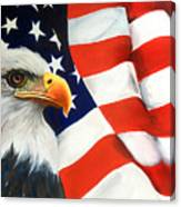 Patriotic Eagle And Flag Canvas Print