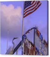 Patriotic Egret Canvas Print
