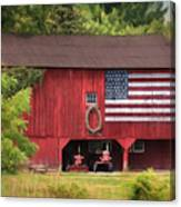 Patriotic Farmer Canvas Print