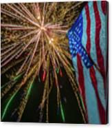 Patriotic Fireworks Canvas Print
