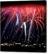 Patriotic Fireworks S F Bay Canvas Print