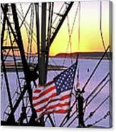 Patriotic Fisherman Canvas Print