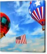 Patriotic Flight Canvas Print