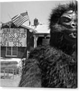 Patriotic Gorilla Pitchman July 4th Mattress Sale Tucson Arizona 1991  Canvas Print