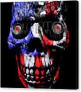 Patriotic Jeeper Cyborg Tj Wrangler Canvas Print