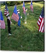 Patriotic Lawn Ornaments Represent Canvas Print