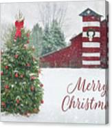 Patriotic Merry Christmas Canvas Print